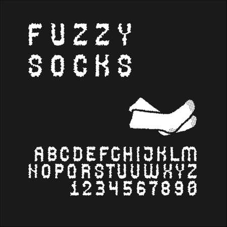 sans serif: Sans serif font set in uppercase (letters and digits) Illustration