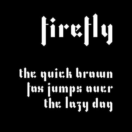 script: Modern blackletter font in lowercase. Gothic script interpretation