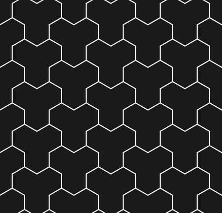 paving tiles: Paving stone seamless pattern in black and white. Tessellating Y tiles