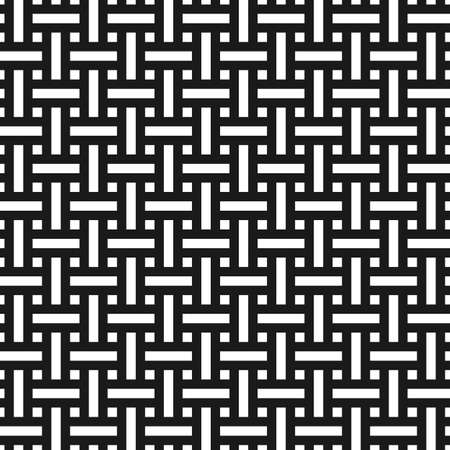 wicker: Abstract monochrome seamless pattern in asian style. Weave texture