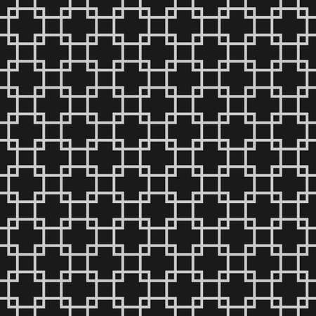 Abstract monochrome seamless pattern with overlapping squares