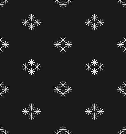 かわいい小さな雪の結晶のクリスマスと新年のシームレス パターン