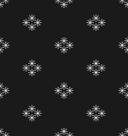 Christmas and New Year seamless pattern with cute little snowflakes