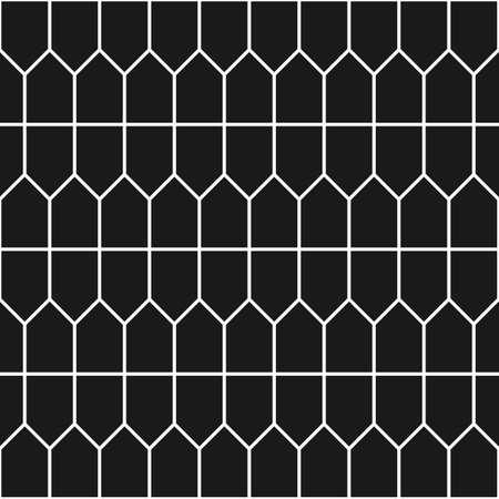プリズマティック タイルのテクスチャです。黒と白の多角形の幾何学的なシームレス パターン  イラスト・ベクター素材