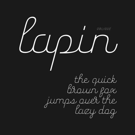 Cute script font in lowercase (oblique version)