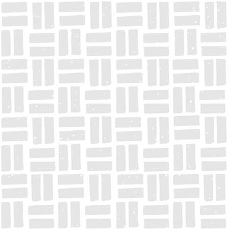 Block print seamless pattern with perpendicular rectangles. Paving stone pattern with removable vintage texture