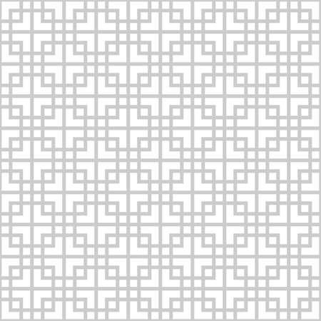 アジアン スタイルで抽象的なモノクロ シームレス パターン  イラスト・ベクター素材