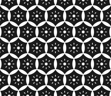 和風で黒と白の抽象的なパターン