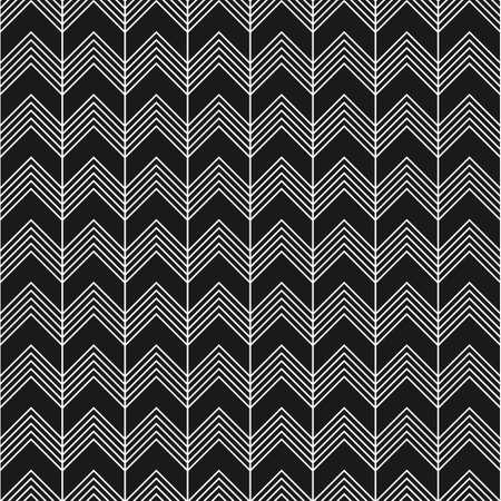 黒と白のジグザグと直線のシームレス パターン