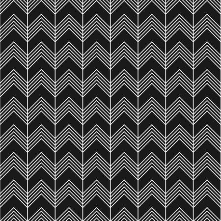 Linear seamless pattern with zig zag in black and white