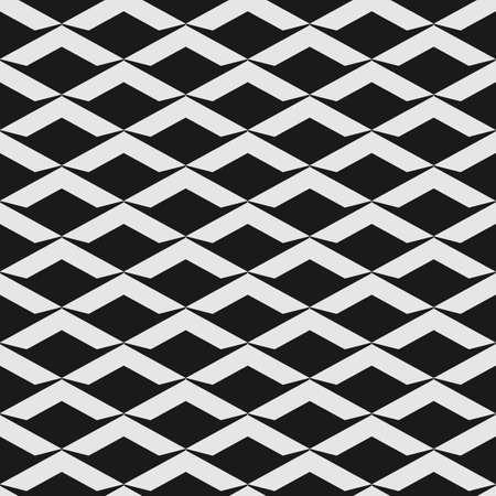 アールデコ調のスケールを持つ黒と白のシームレス パターン