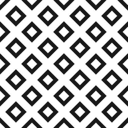 黒と白の菱形シームレス パターン