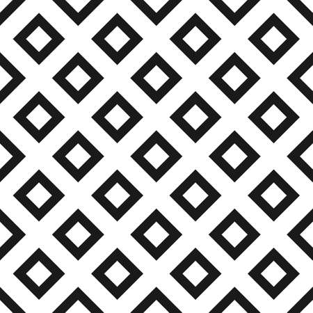 Rhombus seamless pattern in black and white Illustration