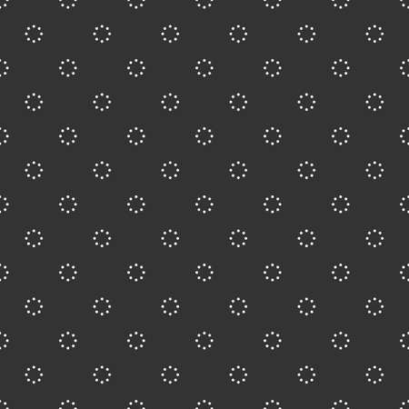 Black and white seamless pattern with dotted circles Illustration