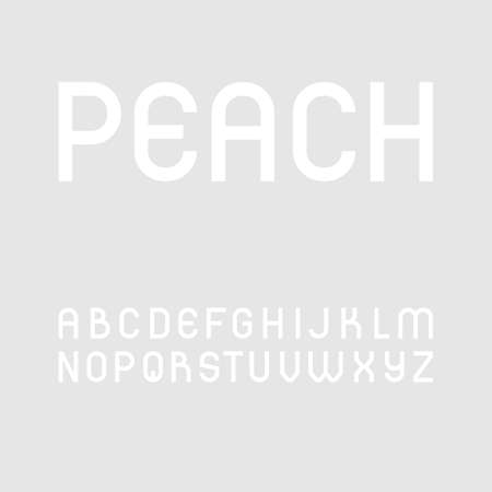Cute and simple sans serif font in uppercase