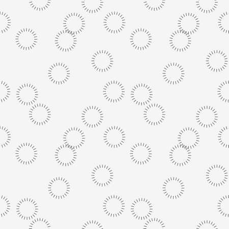 Abstract seamless pattern with overlapping rings on light grey background