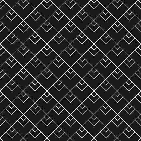 白と黒の三角スケールで幾何学的なシームレス パターン  イラスト・ベクター素材