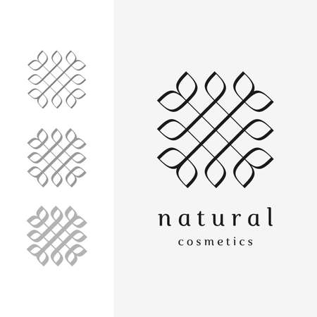 Calligraphic floral logo for natural concept design (3 styles)