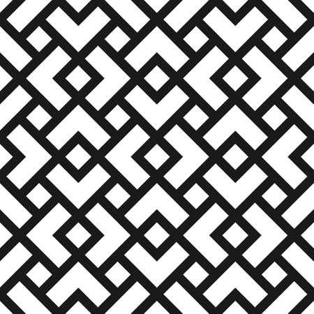 黒と白の菱形の幾何学的なシームレス パターン