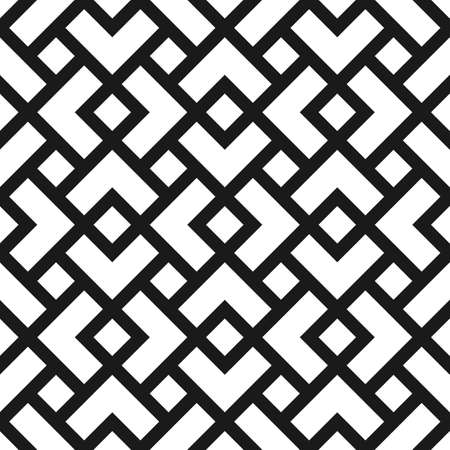 Geometric seamless pattern with rhombuses in black and white