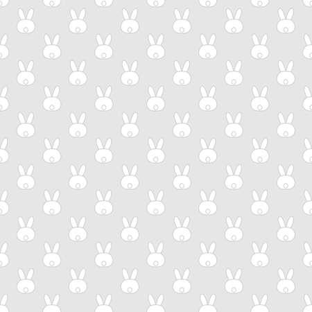白ウサギとかわいいイースターのシームレス パターン