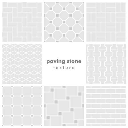 Set of eight paving stone seamless patterns