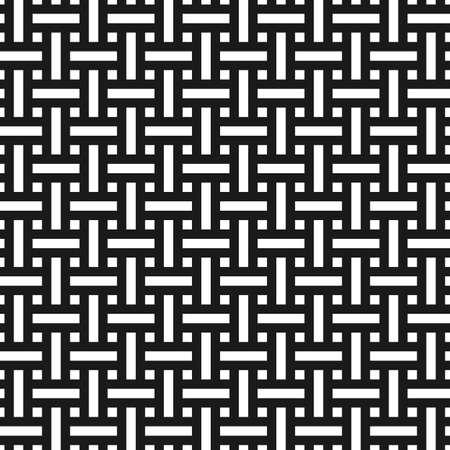 アジアン スタイルで抽象的なモノクロ シームレス パターン。織り目