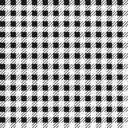 リムーバブル ザラザラした質感で黒と白格子柄のシームレス パターン