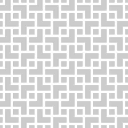 Geometric monochrome seamless pattern in asian style