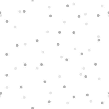 Seamless pattern with round light grey confetti