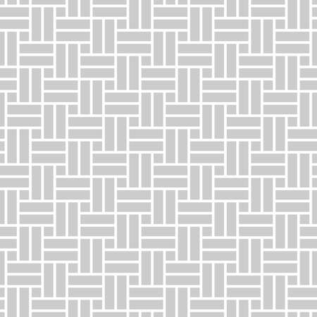 Abstract monochrome seamless pattern in asian style with perpendicular rectangles