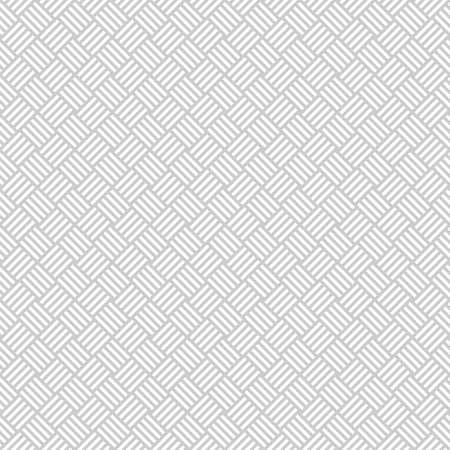 Wicker seamless pattern in light grey. Basket weave. Woven texture.