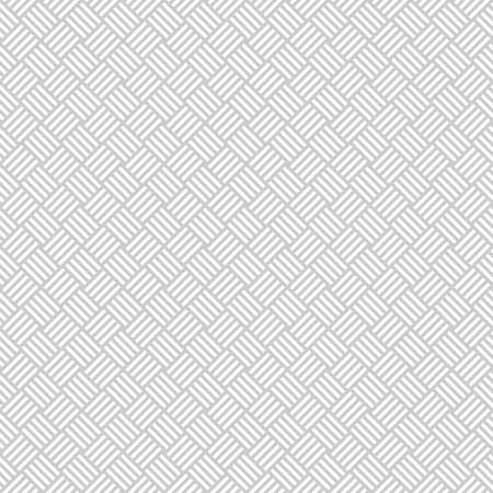 Wicker seamless pattern in light grey. Basket weave. Woven texture.