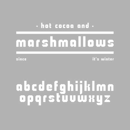 Cute chubby sans serif font. Geometric typeface with latin alphabet in lower case