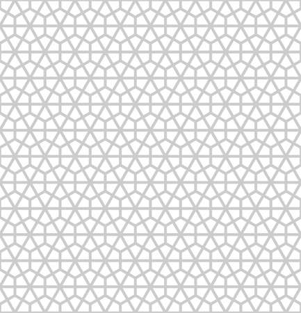 Japanese Kumiko style pattern. Geometric background with honeycombs and triangles