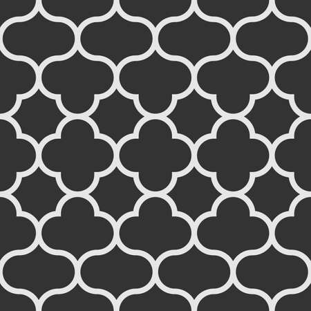Oriental style seamless pattern. Monochrome tiles background