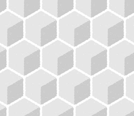 Hexagon, honeycomb tiles background. Geometric seamless pattern with cubes