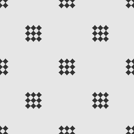 Abstract monochrome seamless pattern with black diamonds on grey background  イラスト・ベクター素材