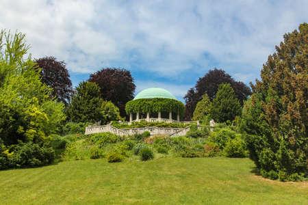 View of Rotunda in Kurpark in Baden. Austria