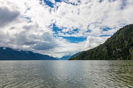 Boat trip on Lake Teletskoye, Altai, Russia