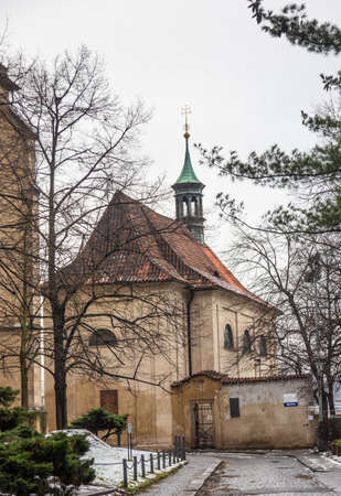A small old stone chapel in Prague's highest city