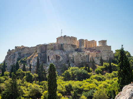 View of the Athenian Acropolis from the Temple of Olympian Zeus, Greece