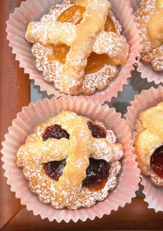 Mix fruit jam pastries  photo