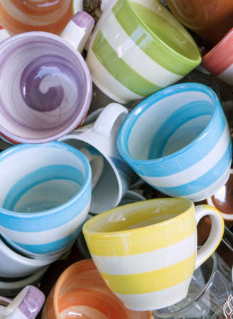 l plate: Coffee cups Stock Photo