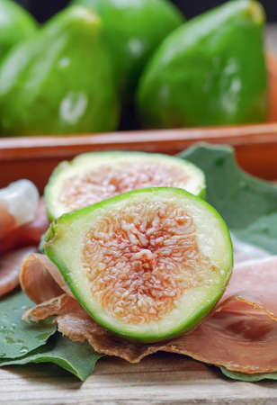 Figs and ham  photo