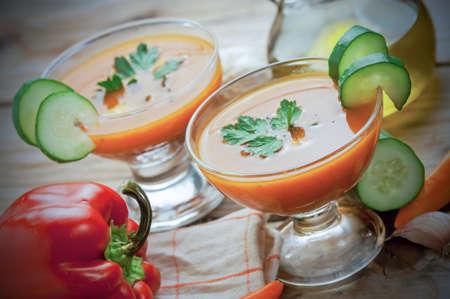 Spanish gazpacho Stock Photo