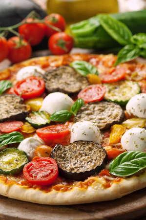Closeup vegetarian pizza photo