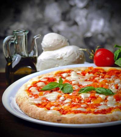 Still life Margherita pizza