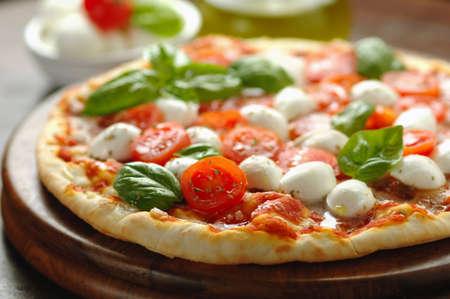 Cherry tomato pizza Stock Photo