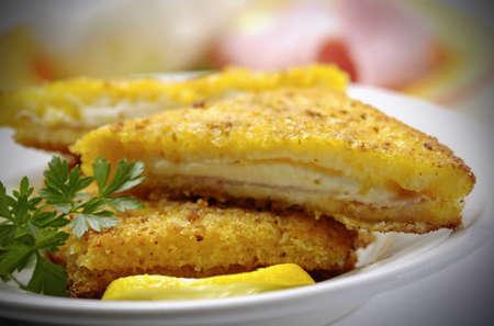 Fried mozzarella in carrozza Stock Photo